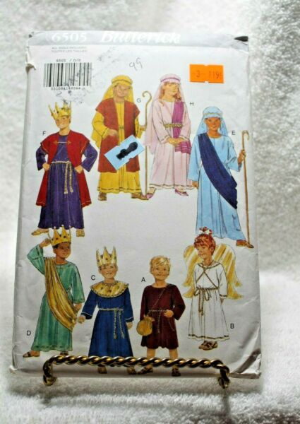 Butterick 6505 for Childs King Shepard Angel Costumes Christmas Play Sew Pattern $3.99