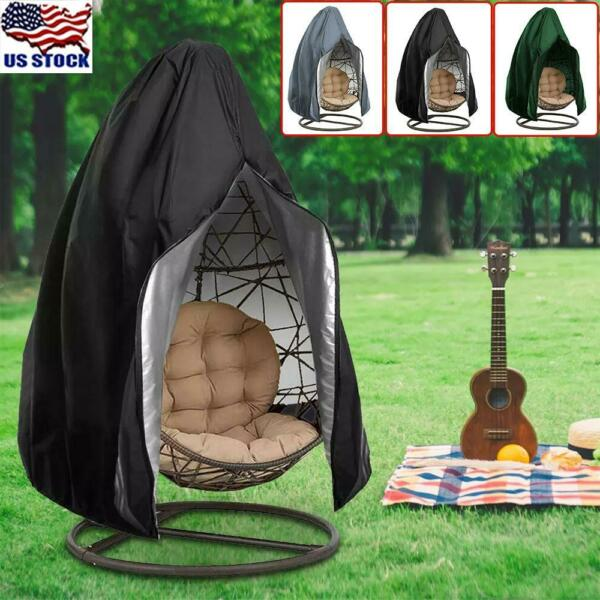 US Hanging Hammock Swing Chair Egg Wicker Stand Seat Cover Patio Garden Outdoor $28.29