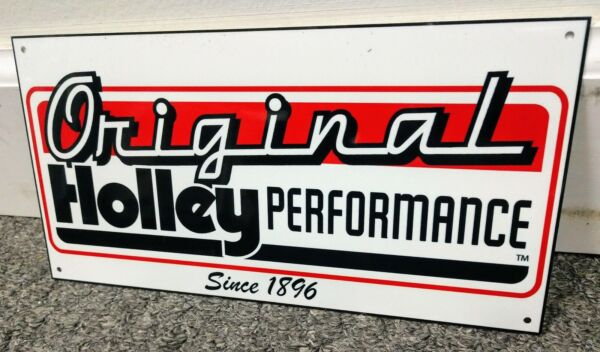 Holley Carburetor Sign ..gas oil gasoline garage
