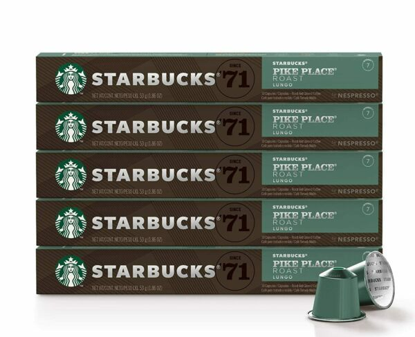 Starbucks by Nespresso Pike Place Roast 50 count single serve capsules
