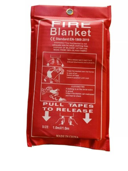 Emergency fire blanket 39.3 in x 39.3 in .43mm thickness free shipping