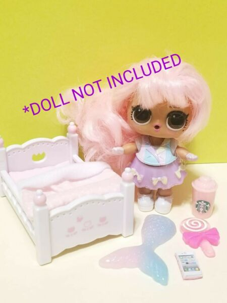 LOL SURPRISE ACCESSORIES for Dolls *6 Pieces LOT Custom BED amp; TREATS $11.69