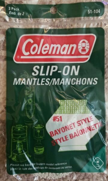 Coleman Slip On Lantern Mantles 2 Pack # 51 Bayonet Style 51 104 $6.15