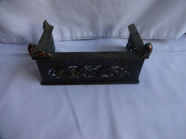 Antique Miniature Chinese Fireplace Small Fender Copper amp; Enamel with Dragons