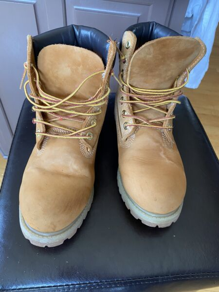 Timberland Boots Men Wheat 6 Inch. 10061 Authentic Size 7.5M. Leather Waterproof $59.99