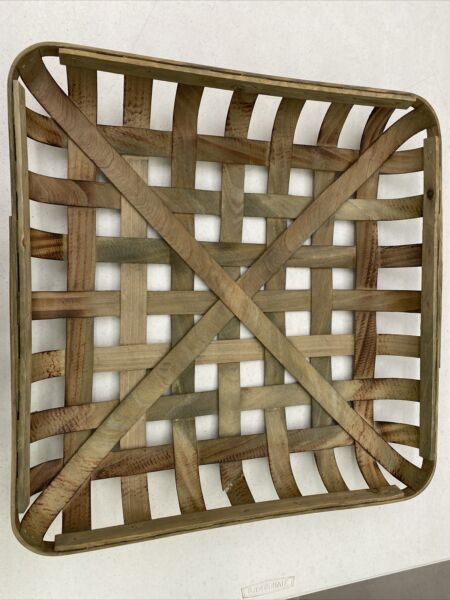 IMPERFECT Natural TOBACCO BASKET #1 Large Basket Only Farmhouse Chic Decor $24.99