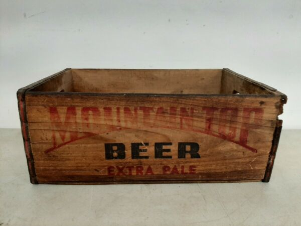 Antique Vintage MOUNTAIN TOP WOOD BEER CRATE BOX RARE
