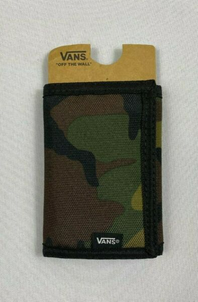 Vans Off The Wall Camo Camouflage Slipped Tri Fold Wallet $14.99