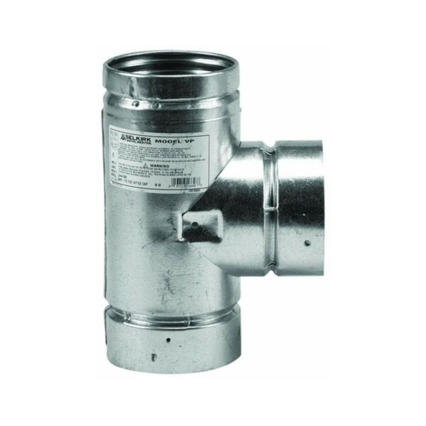 Selkirk 243100 Pellet Stove Pipe Tee With Cap 3quot; $53.36