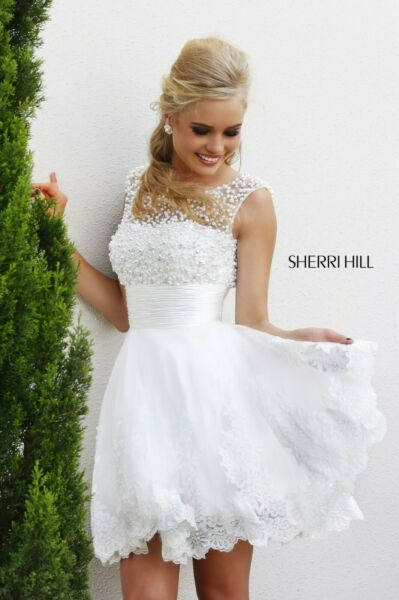 Sherri Hill Pearl and Tool Cocktail Dress 4302 New with Tags Size 2