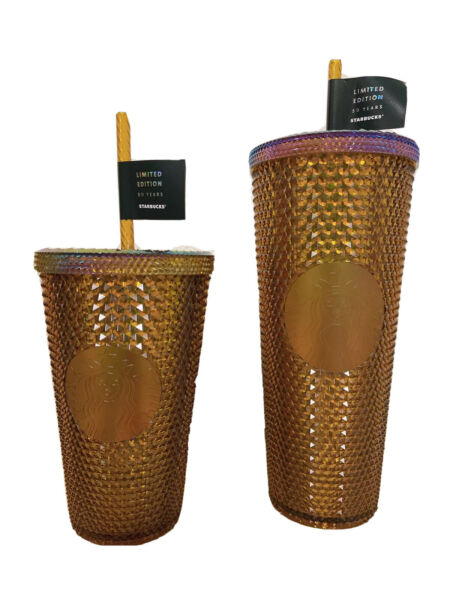 Starbucks 50th anniversary Copper Studded Cold cup Tumbler 24oz or 16oz 🔥NEW
