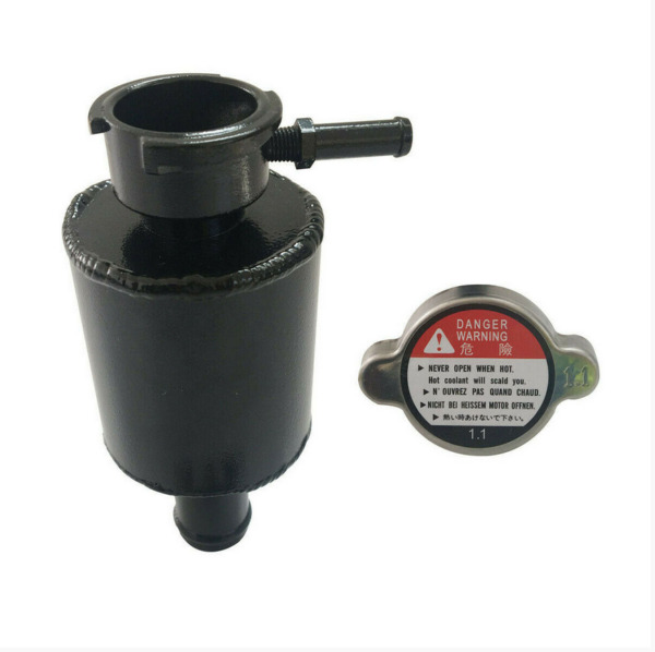 Universal Aluminum Coolant Water Expansion Overflow Tank Bottle2.5quot; × 2.6quot; Black $39.90