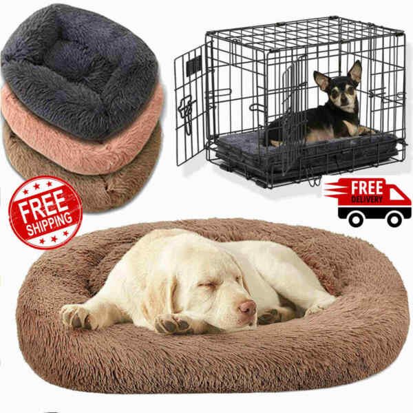 Long Plush Big Dog Bed Best for Your Dog Orthopedic Calming Dog Crate Bed tt $59.41