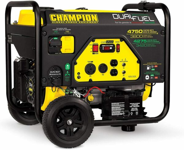 Champion Power Equipment 76533 4750 3800 Watt Dual Fuel RV Portable Generator