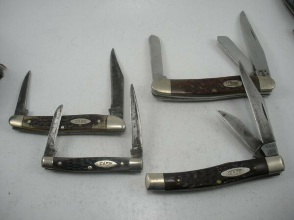 LOT OF 4 CASE KNIVES USED