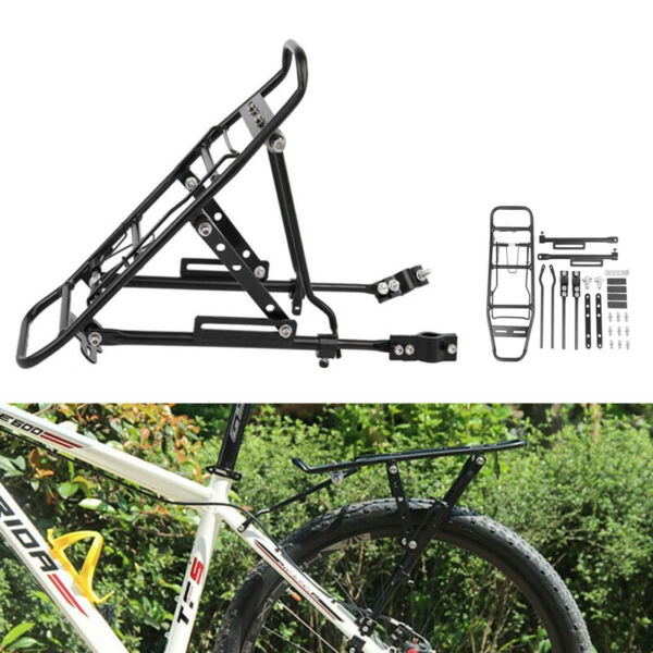 Bicycle Mountain Rear Rack Seat Post Mount Pannier Aluminum Luggage Carrier $22.18