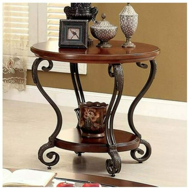 Furniture of America CM4326E May Brown Cherry End Table Side Nesting