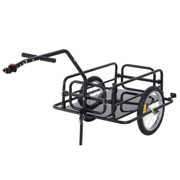 Folding Bike Cargo Trailer Cart with Seat Post Hitch Easy Assemble Holds 80lb $192.71