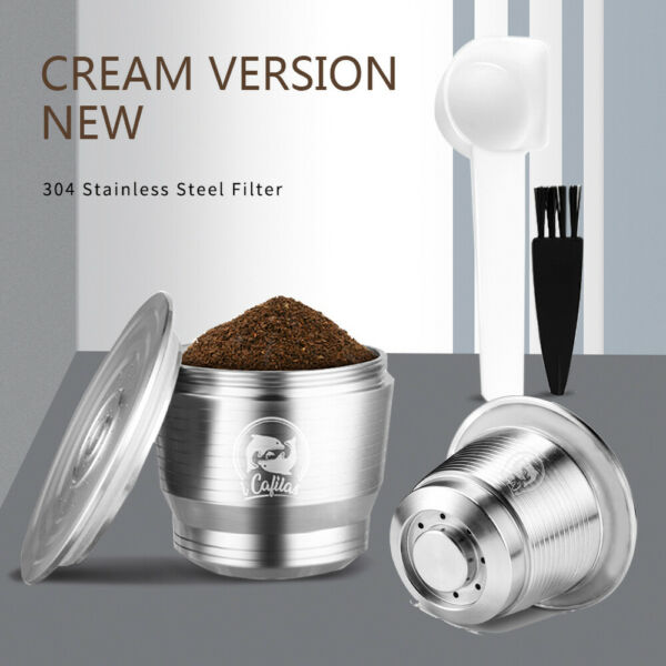 iCafilas Stainless Steel Reusable Refillable Coffee Capsule Pod For Nespresso US