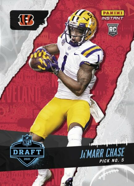 2021 Panini Instant Ja#x27;Marr Chase Draft Night Rookie Card *Pre Sell* $6.95