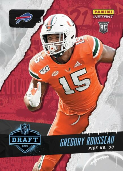 2021 Panini Instant Gregory Rousseau Draft Night Rookie Card *Pre Sell* $7.95