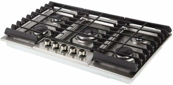 36quot; Gas Stove Cooktop 5 Italy Sabaf Burners Stainless made by LYCAN More durable