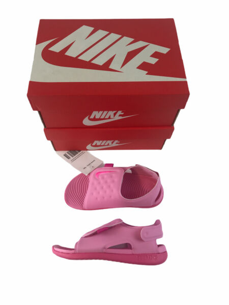 Nike Toddler Size 8C Sunray Adjust Pink Toddler Water Sandals AJ9077 601 New $26.97