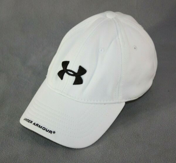 Under Armour Baseball Hat Cap Large Flex Fit White Embroidered Logo Microfiber $14.95