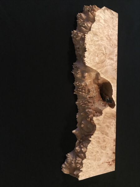 """Maple Burl Craft Wood 16 7 8"""" Long 4 3 8"""" Wide 1 7 8"""" Thick Almost Dry"""