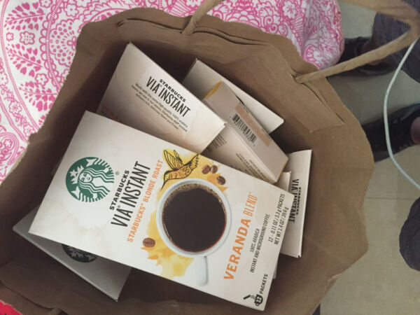 Starbucks coffee 60 packets 5 BOXES via instant Veranda blend exp June 2021