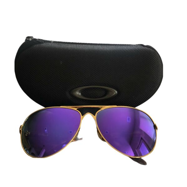Oakley Feedback 4079 18 Gold Violet Iridium Polarized Sunglasses Prescription $49.99