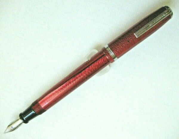 Esterbrook Model J Dubonnet Red Fountain Pen with Broad 9968 Nib