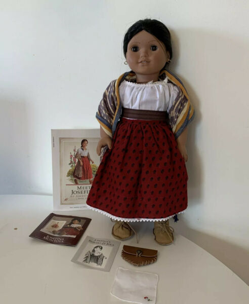 American Girl Josefina Montoya Doll Pleasant Company Meet Outfit Books Pouch