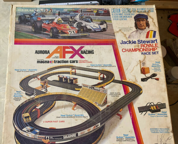 Jackie Stewart Royale Championship Racing Set Aurora Afx Slot Car