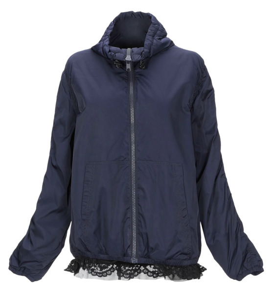 Moschino Jacket with Lace Size 10 = 46 = Large Dark Blue NWT $91.00