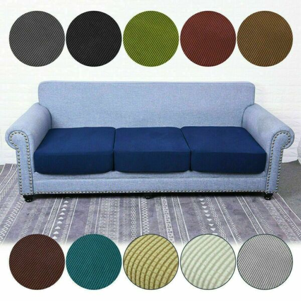 1 2 3 4 Seats Stretch Sofa Covers Chair Couch Cover Elastic Slipcover Protector $11.69