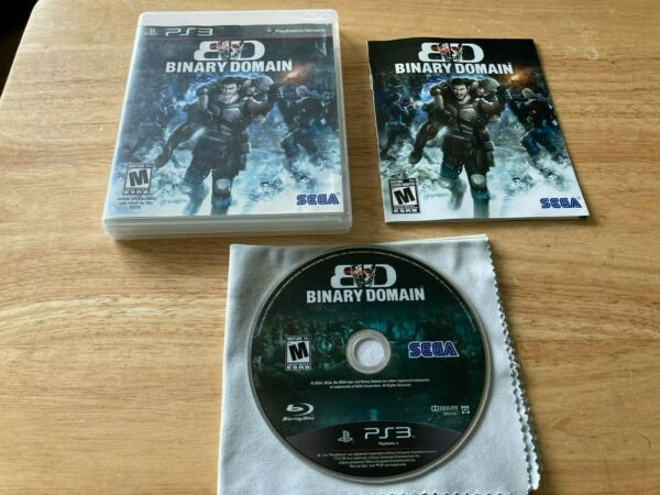 Binary Domain Sony Playstation 3 PS3 System Complete Game TESTED $34.99