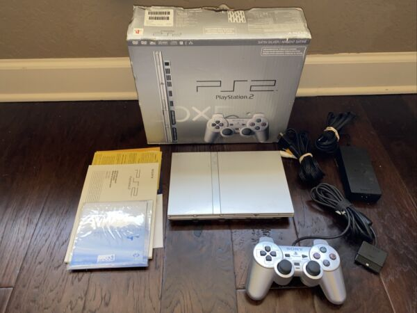 Sony PlayStation 2 Slim Console SCPH 79001 Silver PS2 System Complete In Box $179.99