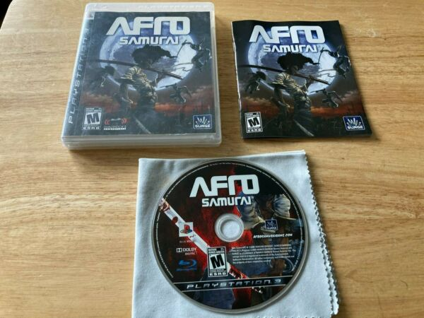 Afro Samurai Sony Playstation 3 PS3 System Complete Game TESTED $49.99