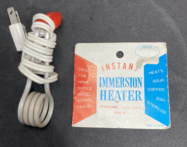 Vintage Instant Immersion heater for water coffee tea $7.88