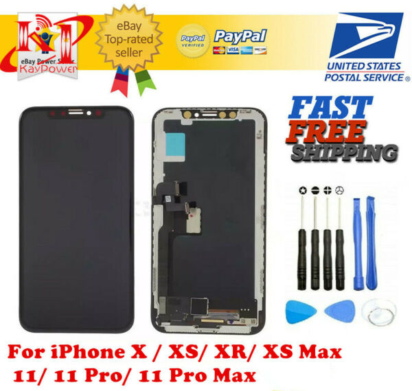 US iPhone X XS XR Max 11 Pro OLED LCD Display Touch Screen Digitizer Replacement $59.99