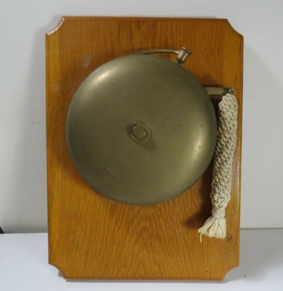 Vintage 8quot; Boxing Bell Extra Loud Ring Nautical Rope Pull