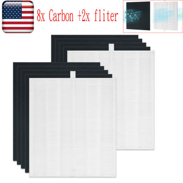 2x HEPA Replacement Filter 8x Carbon for Coway AP1512HH Air Purifiers 3304899 $38.99