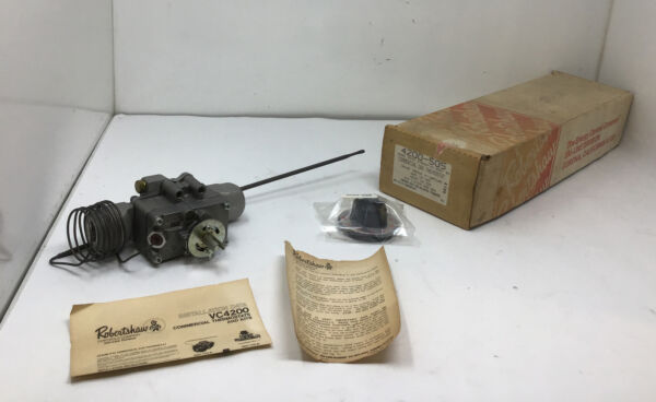 NOS NEW OEM ROBERTSHAW 4200 505 4200 505 Fdth 1 2quot; X 1 2quot; Gas Thermostat Body #2 $210.00