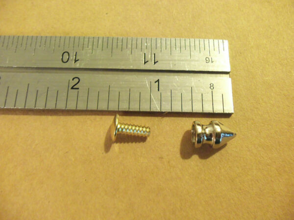12MM 1 2quot; Nickel Plated Rivet Back Dog Collar Spikes Studs Punk Rock 100 pack $20.25