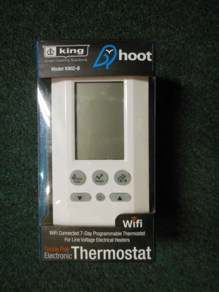 King Atmoz Hoot Double Pole 4 Wire WiFi 240V 16A Electric Heat Thermostat $45.00