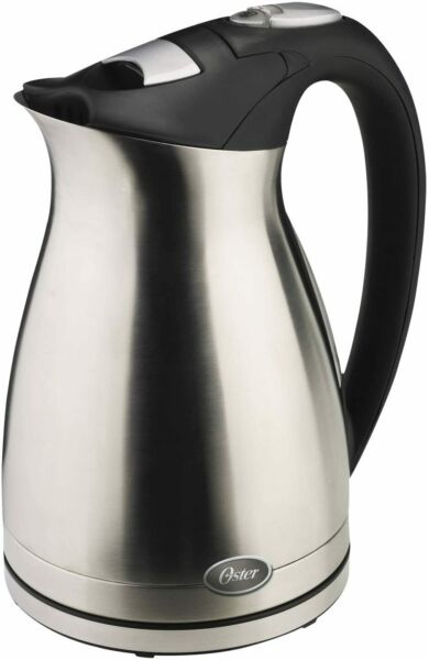 Oster 1.5 Liter Stainless Steel Electric Water Kettle Cordless Keep Warm Feature $29.89