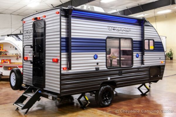 New 2021 Cherokee Wolf Pup 14CC Ultra Lite Travel Trailer Small Camper For Sale $13999.00