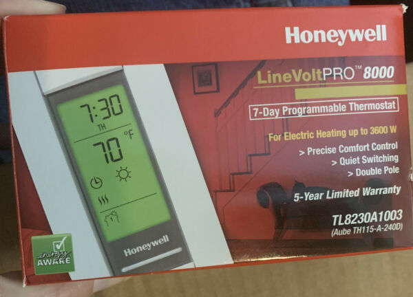 Honeywell LineVoltPRO 8000 7 Day Programmable Electric Heat Thermostat... $23.99