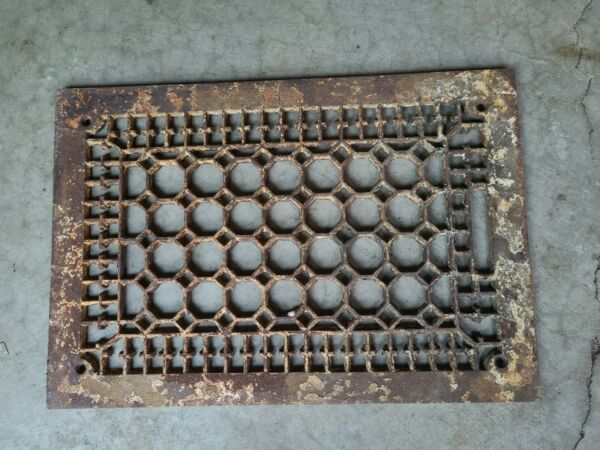 Vintage Cast Iron Floor Grate Heating Vent Cover Barn Find